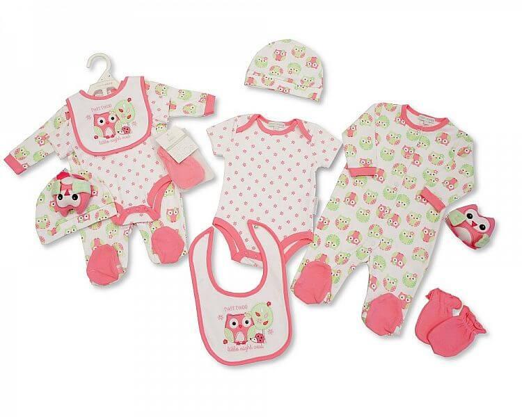 Set cadou hainute bebelusi 6 piese pentru fetite