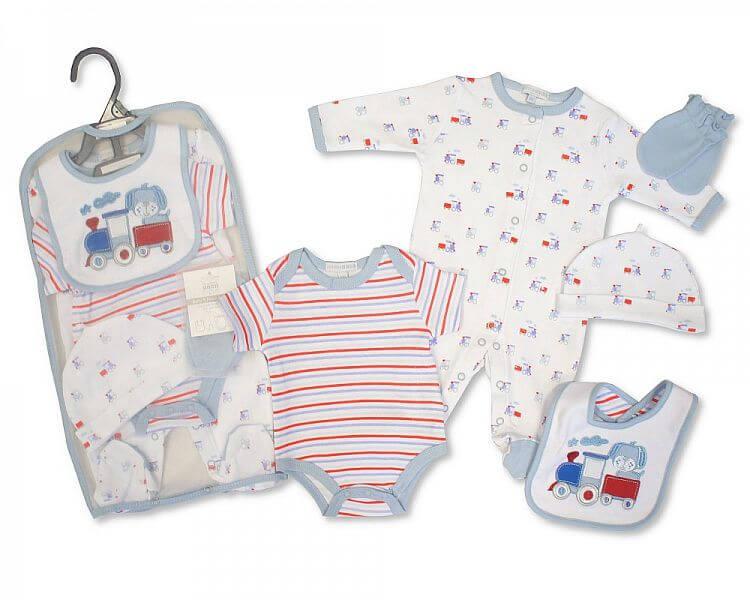Set cadou hainute nou nascuti 5 piese pentru baietei