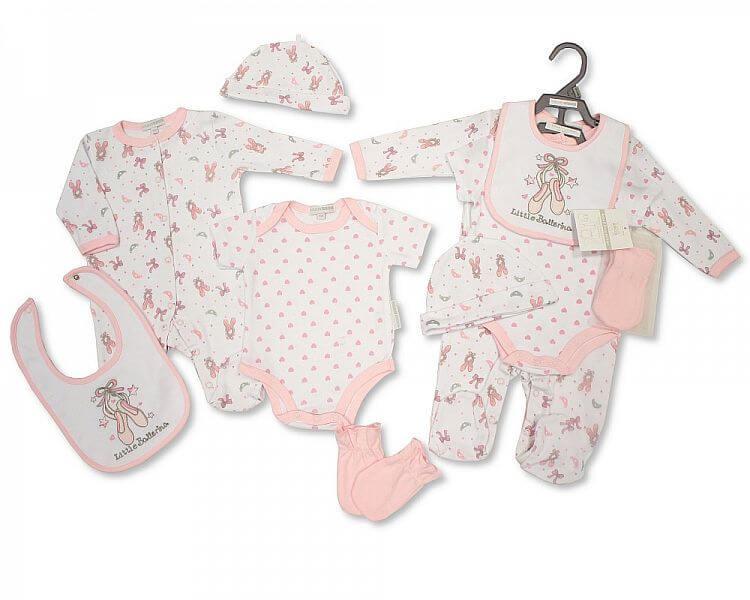 Set cadou hainute nou nascuti 5 piese pentru fetite