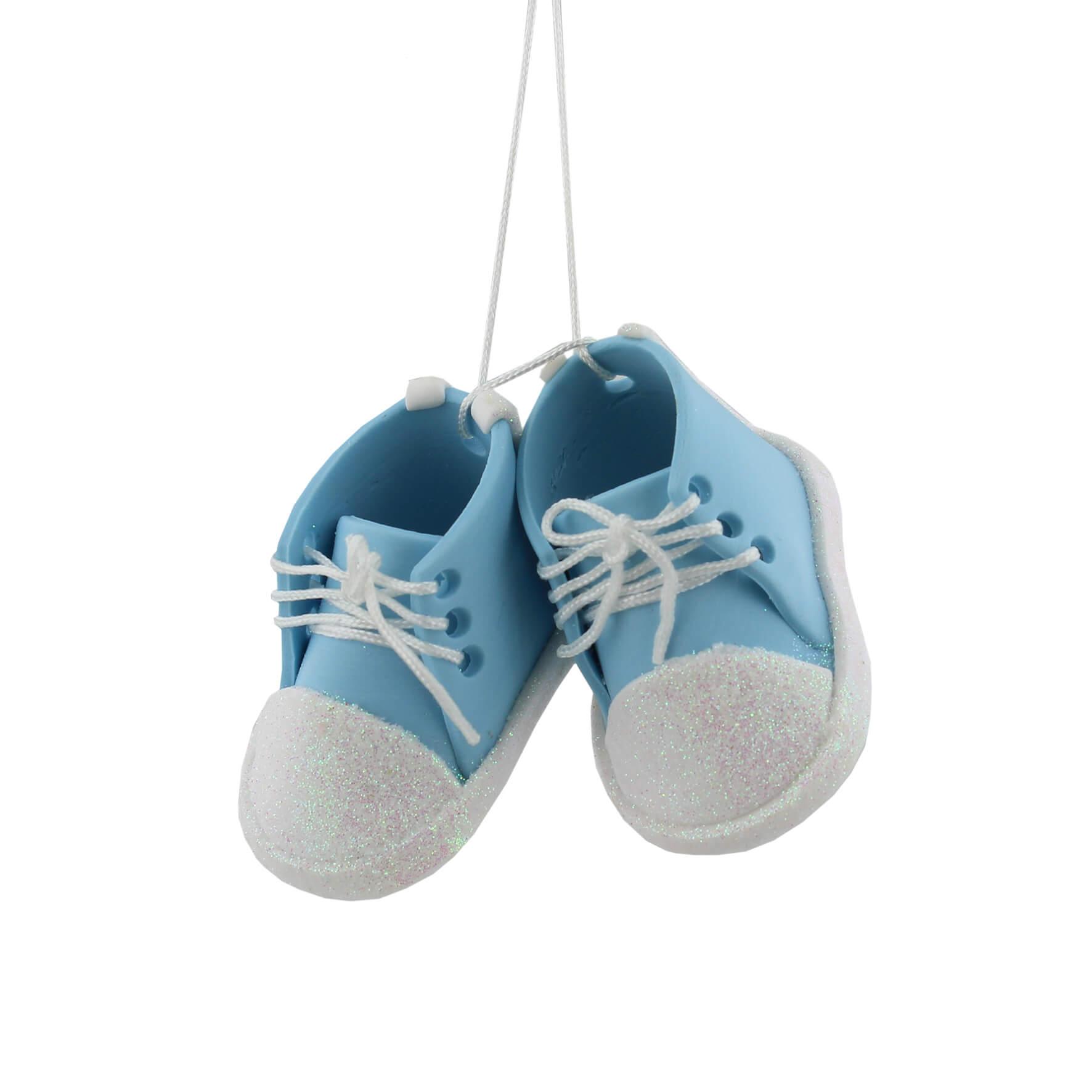 Ornament pentru brad botosei bleu